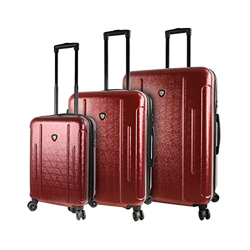 Mia Toro Italy Manta Hardside Spinner equipaje, juego de 3 piezas, color burdeos, Mia Toro Italy Manta Hardside Spinner veliz 3 piezas,...