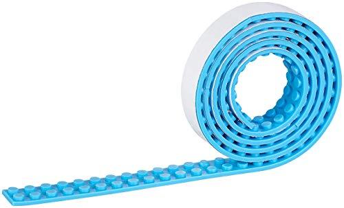 infactory Toys: Selbstklebendes Spielbaustein-Tape für gängige Systeme, 1 m, hellblau (Spielbausteintape)