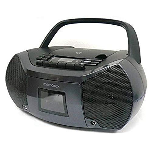 Memorex CD/Cassette Recorder MP3 AM/FM FlexBeats Boombox MP3261 with Aux line in jack - Black