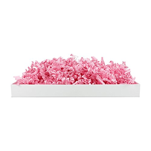 SizzlePak 123, Pink, rosa Füllmaterial und Polsterpapier zum Füllen, Polstern, Ausstopfen, Dekorieren von Geschenk-Verpackungen, Deko - 1 kg