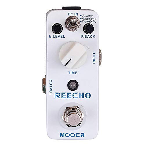CAMOLA Mooer Reecho Digital Delay Effect Pedal 3 Delay Modes(Analog/Real Echo/Tape Echo) for Electric Guitar True Bypass