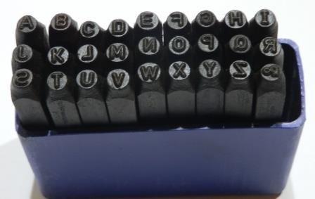 Schlagbuchstaben 5 mm, 27 tlg. Buchstabenstempel