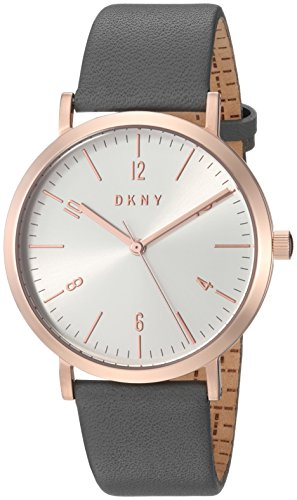 DKNY Damen Analog Quarz Uhr mit Leder Armband NY2652