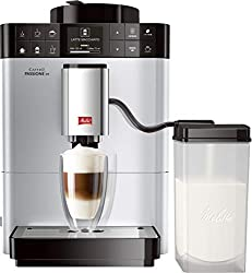 Melitta Caffeo Passione OT F531-101, Kaffeevollautomat mit Milchbehälter, One Touch Funktion, Silber
