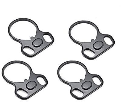 N-A JIAYOUXILE Standard Adapters Connection Accessories,Outdoor Sports Steel Ring Accessories, 4 PCS (Black)