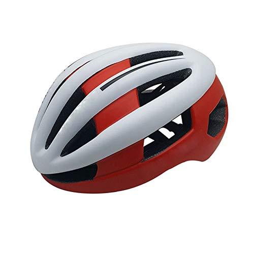The only good quality Pretty Mountainbike-Fahrradhelm für Erwachsene, einteiliger Schutz, Skateboard-Helm weiß/rot