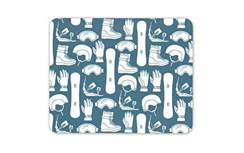 Mousepad Mausmatte Mauspads Snowboard Ausrüstung Mausmatte Pad - Snowboard Helm Handschuhe Geschenk PC Computer