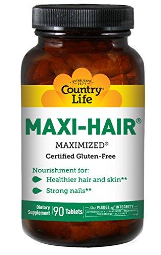 Country Life, Maxi-Hair (Maxi-Haar), 90 Vegane Tabletten