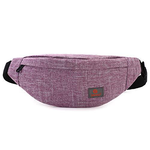 Tinyat Reise-Fanny-Tasche, Gürteltasche, sehr leicht, für Reisekasse, Werkzeugset T201, Violett (violett), Medium