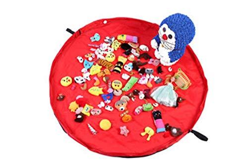 Sac de rangement de jouets for enfants portable et tapis de jeu Lego Jouets Organisateur Pouch Sacs à cordonnet rangement pratique, rouge, 50cm de diamètre aijia ( Color : Red , Size : Diameter 50cm )
