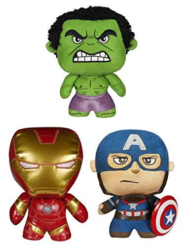 Plush: Marvel: Vengadores La era de Ultrón: Hulk + Iron Man + Capitán América