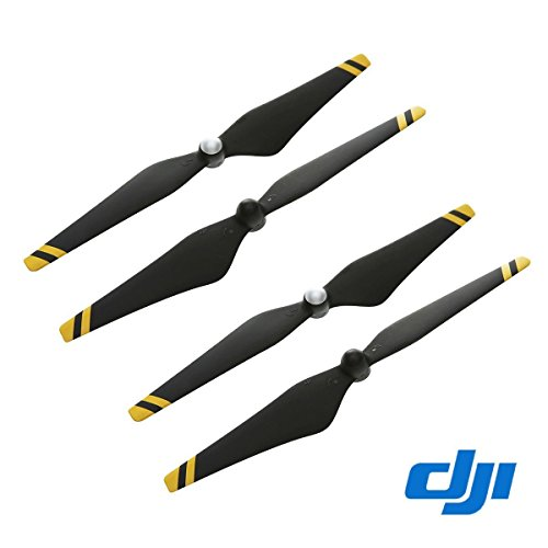 2 Pairs DJI 9450 Props Carbon Fiber Reinforced Self-tightening Propellers (Composite Hub, Black with Yellow Stripes)