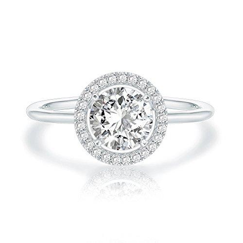 SWAROVSKI Crystal 14K White Gold Plated Birthstone Rings | White Gold Rings for Women | Diamond Ring