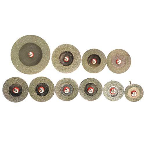 outingStarcase 10pcs 16-40mm Diamante de Sierra de un Conjunto de Discos Mini Taladros Cut Off Rueda Kit lámina for Herramientas eléctricas Herramienta rotativa Herramientas industriales