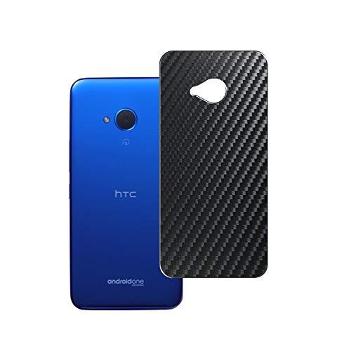 Vaxson 2 Unidades Protector de pantalla Posterior, compatible con Y!mobile Android One X2 / HTC U11 life, Película Protectora Espalda Skin Cover - Fibra de Carbono Negro