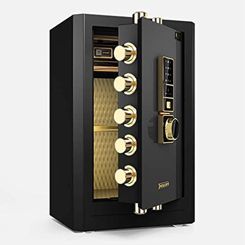 Electrónico Digital Caja Fuerte De Acero, WIFI Biométrico De Huellas Digitales Contraseña Con La Exhibición De LED, Para El Hotel De La Oficina Medicación De La Joyería Efectivo,A,40*36*60cm