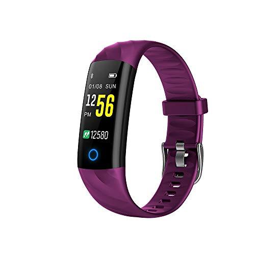 Activity Tracker Watch IP68 Waterproof,Fitness Tracker Smart Watch with Heart Rate Blood Pressure Message Call Reminder Smartwatch for Women Men Kids,Bluetooth Touch Screen Sport Watch (Purple)