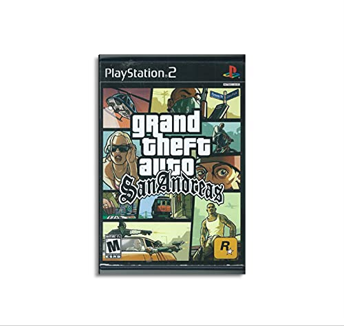 Gta San Andreas PS2 Jeux Poster décoratif sur toile pour salon chambre à coucher