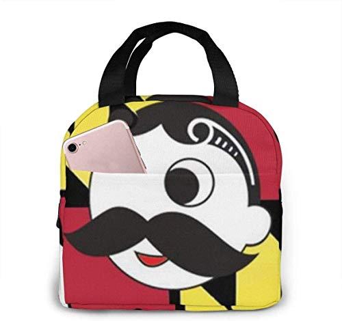 Maryland-Flagge Krawatte Clipart Smoking Lunch Tote Bag Isolierte Weiche Kühltasche Picknicktasche für Outdoor, Camping oder Spiele