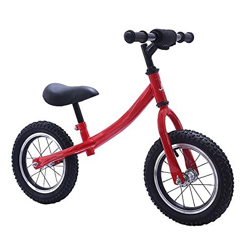 12 PulgadasScooter de para NiñOs Y NiñAs,Bicicleta de Equilibrio para NiñOs, Bicicleta sin pedales,Bicicleta Deslizante para BebéS de 2 a 6 añOs/red / 12inch