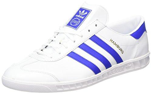 adidas Hamburg, Scarpe da Corsa Uomo, Multicolore (Ftwr White/Bold Blue/Gold Met.), 48 EU