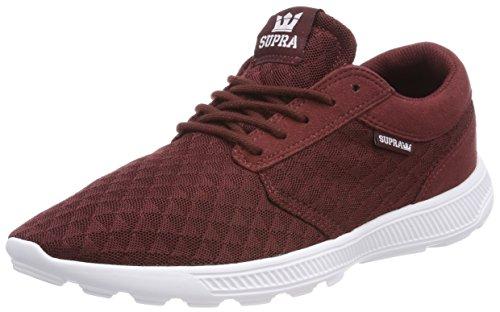 Supra Herren Hammer Run Sneaker, Rot (Andorra-White), 42.5 EU