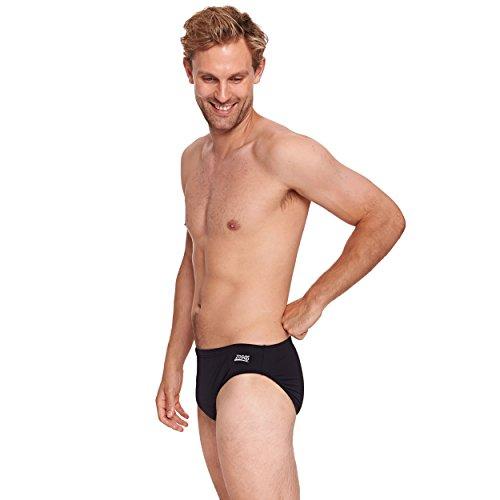 Zoggs Cottesloe - Bañador para Hombre, tamaño 36, Color Negro