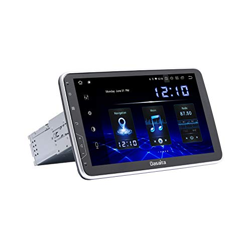 Dasaita 10 inch Rotatable Screen 1din Android 10.0 Car Stereo Carplay Android Auto for Universal Radio GPS DSP System 4G Ram 64G ROM BT 5.0 15Band EQ Navigation Multimedia