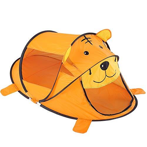 XinQing-Tienda Carpa Infantil, Cubierta Juego Historieta de la casa, al Aire Libre Plegable del Tigre Océano Ball Pool, Juguete Educativo Play House (Color : Orange)