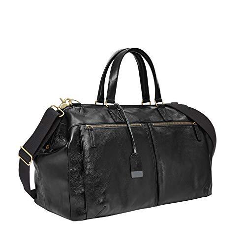 Fossil Men's Defender Leather Duffle Bag, Black