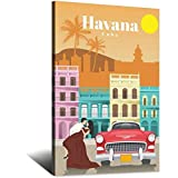 Vintage-Reise-Poster Havanna, Kuba, Leinwand-Kunst, Poster,