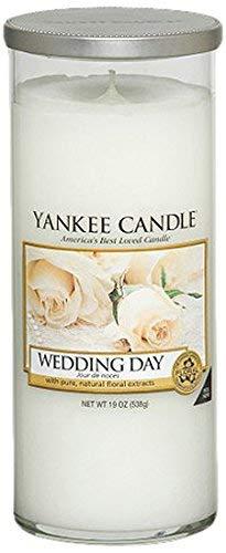 """Yankee Candle """"Wedding Day"""" Stumpenkerze, weiß, groß"""