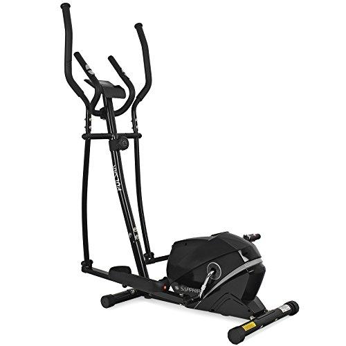 Xylo Crosstrainer Heimtrainer Ellipsen Trainer Ergometer Fitness Gerät Magnetisch Home Gym Schwungmasse Trainingsprogramme (Schwarz)