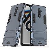 Max Power Digital Funda para Realme X2 Pro (6.5') con Soporte - Carcasa Híbrida Antigolpes Resistente (Realme X2 Pro, Azul Marino)