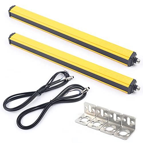 OUKANING Sensor de Cortina de luz de Rejilla fotoeléctrica de Seguridad de...