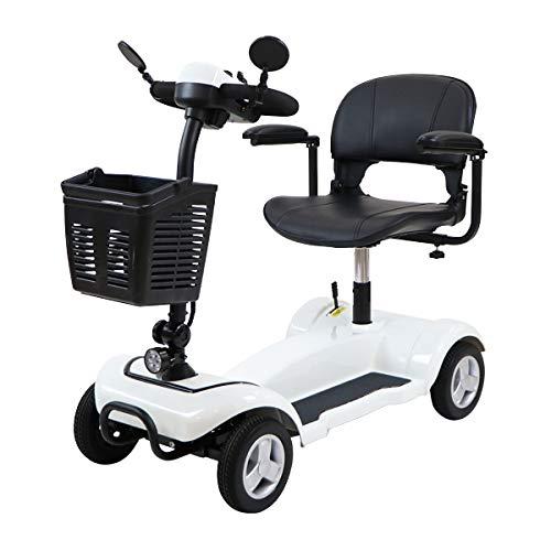 電動シニアカート 白 電動カート シルバーカー サイドミラー 車椅子 TAISコード取得済 運転免許不要 電動車いす 電動車椅子 介護 福祉 バックミラー 鏡 充電 シート回転 高さ調節 折りたたみ 軽量 四輪車 4輪車 移動 高齢者 お年寄り 乗り物 ス