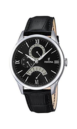 Festina Herren Analog Quarz Uhr mit Leder Armband F16823/2