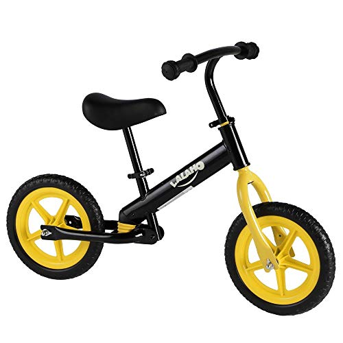Waful Kids Balance Bike Height Adjustable, Lightweight Balance Bike for 2-5 Years Old Toddlers, Kids, Glider Bike with Footrest and Handlebar Pads Learn to Ride Pre Bike Adjustable Seat Yellow