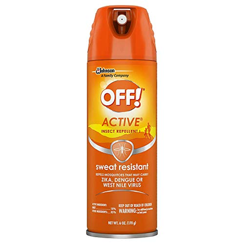 OFF! Active Insect Repellent, Sweat Resistant 6 oz (Pack of 3)