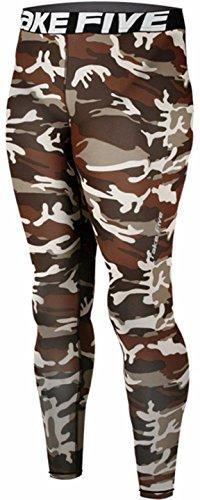JustOneStyle - Leggings sportivi - uomo Military Camo X-Large