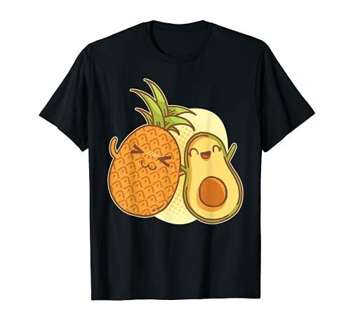 パイナップル & アボカド かわいい日本ギフトシャツ ガールズ Tシャツ