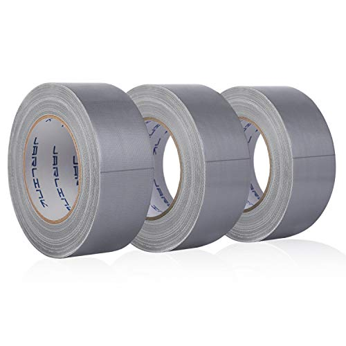 JARLINK 3 Pack Duct Tape, 11mil Thick, 1.88 inches x 35 Yards, Multi-Use for Home Office Improvement, Indoor and Outdoor Repairs, Silver