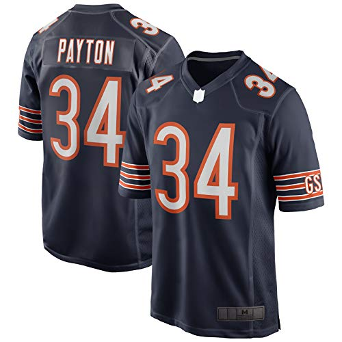 XIANYI Camiseta de fútbol americano de Walter Rugby Jersey Payton para hombre, talla L