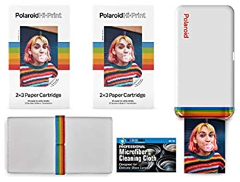 Polaroid Hi-Print - Bluetooth Connected 2x3 Pocket Phone Photo Printer with 2 Polaroid Hi·Print 2x3 Paper Cartridges  40 Sheets  Special Pouch/Case and Microfiber Cloth