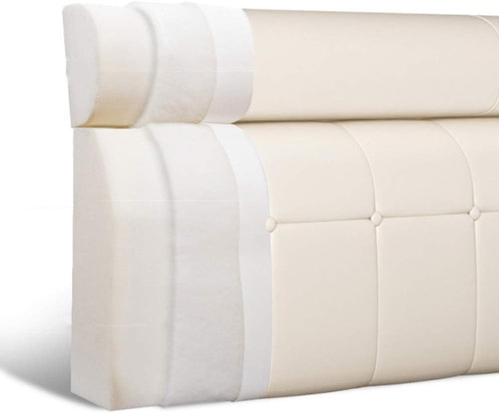 ZJHCC Coussin de Dossier Souple sans tête de lit appuie-tête Coussin de Lecture Coussins lombaires rembourrés, 5 Couleurs (Couleur: A, Taille: 90x12x60cm) E