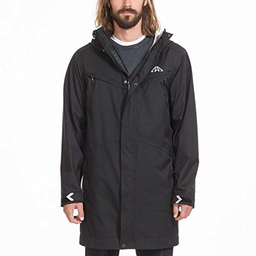 Zugspitze 3 Lagen Mantel Herren in Schwarz - ROTLECH - Hardshell Jacke, Outdoorjacke, Übergangsjacke - Größe XL - Nur erhältlich auf Amazon.de
