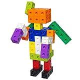 Holmeey Resources Steckwürfel 10 Farben Kids Multi Linking Zählwürfel Snap Blocks Kids Early...