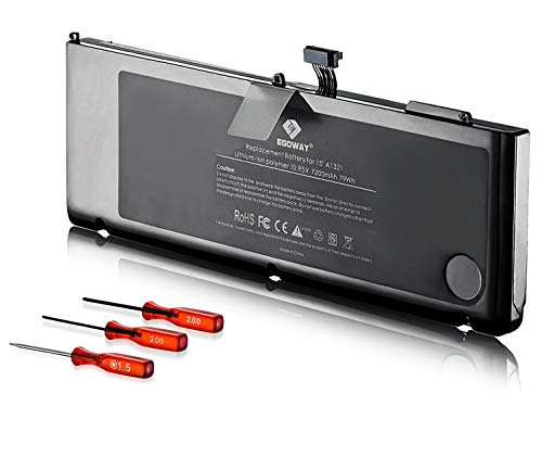 E EGOWAY Replacement Laptop Battery Compatible with Mac Book Pro 15 inch A1321 A1286 Mid 2009 and 2010