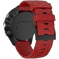 WIIKAI Pulsera de repuesto compatible con Suunto 9/Baro Copper/Extension Gold/Elite Edition/Titanium Alloy/Spartan/Baro Outdoor/Relojes pulseras., color rojo