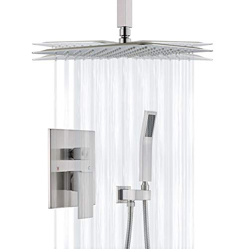 Shower System, STARBATH Ceiling Shower Faucet Set for Bathroom with High Pressure 12'' Rain Shower...